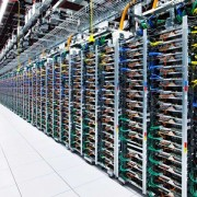 Racks in a Google Data Centre
