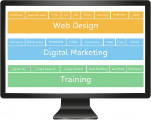 web-design, digital-marketing, seo-training infographic
