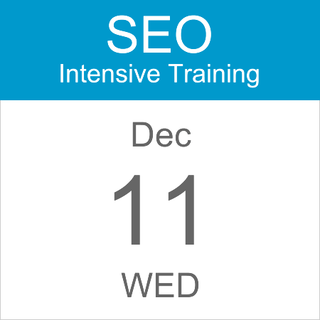 intensive-seo-training-course-calendar-icon-2019-dec-11