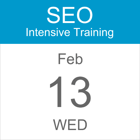intensive-seo-training-course-calendar-icon-2019-feb-13