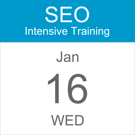 intensive-seo-training-course-calendar-icon-2019-jan-16