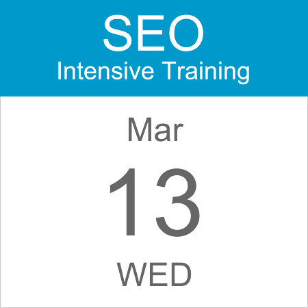 intensive-seo-training-course-calendar-icon-2019-mar-13