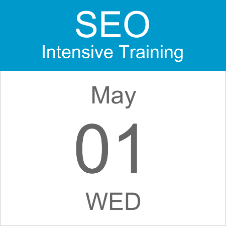intensive-seo-training-course-calendar-icon-2019-may-01