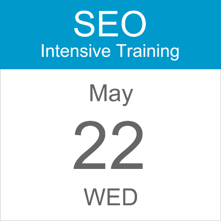 intensive-seo-training-course-calendar-icon-2019-may-22