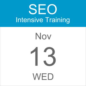 intensive-seo-training-course-calendar-icon-2019-nov-13