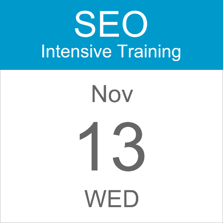 intensive-seo-training-course-calendar-icon-2019-nov-13