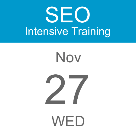 intensive-seo-training-course-calendar-icon-2019-nov-27