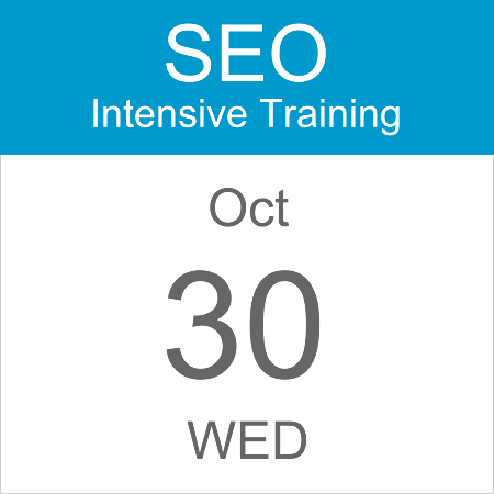 intensive-seo-training-course-calendar-icon-2019-oct-30