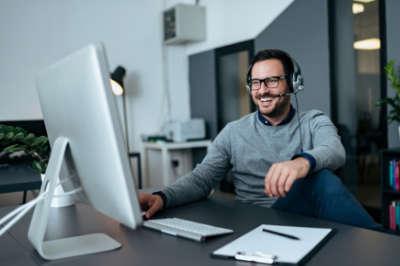 Man Learning SEO Online