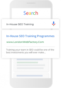 In-house SEO training.
